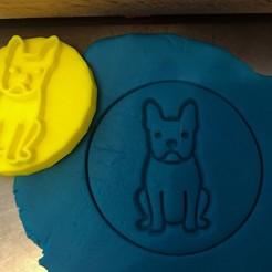 Télécharger modèle 3D Timbre à biscuit + cutter - Boston Terrier 1, Tvoritko