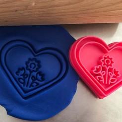 srdce kytkyy.jpg Télécharger fichier STL Coupe-biscuit - Coeur - fleurs • Design pour imprimante 3D, Tvoritko