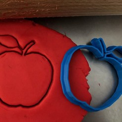 jablko.jpg Download STL file Cookie cutter - Apple • Model to 3D print, Tvoritko