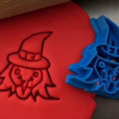 čarodějka.jpg Download STL file Cookie cutter - Witch • 3D printing object, Tvoritko