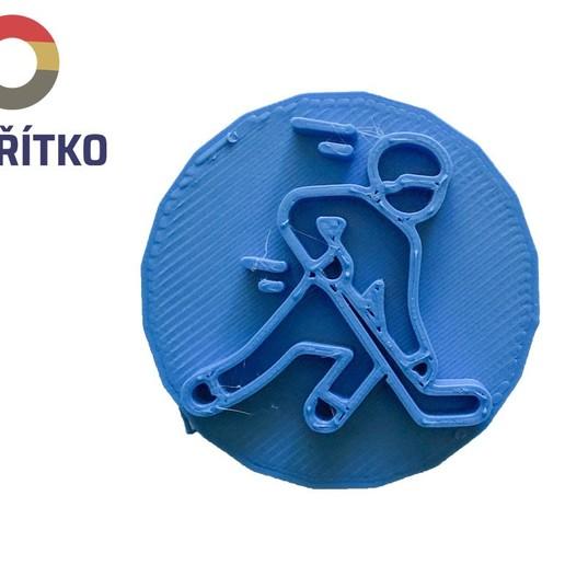 Download STL file Cookie stamp + cutter -  Hockey player I • 3D print object, Tvoritko