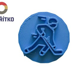 4.jpg Download STL file Cookie stamp + cutter -  Hockey player I • 3D print object, Tvoritko