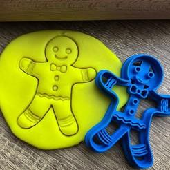 pernííček.jpg Download STL file Cookie cutter -  Gingerbread • 3D printing template, Tvoritko