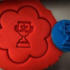 22.jpg Download STL file Cookie stamp + cutter -  Ice cup • 3D printing design, Tvoritko
