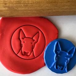 razítko 33 .jpg Télécharger fichier STL Timbre à biscuit + cutter - Bullterrier anglais III • Objet imprimable en 3D, Tvoritko