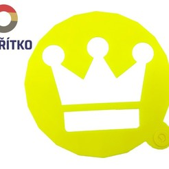 Download 3D print files Cake stencil- Crown, Tvoritko