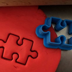 puzzle 2.jpg Download STL file Cookie cutter - Puzzle • 3D printer object, Tvoritko