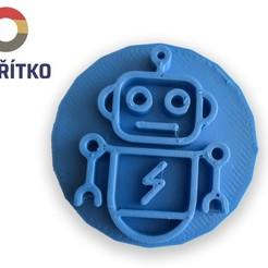 Télécharger STL Timbre à biscuit + cutter - Robot, Tvoritko