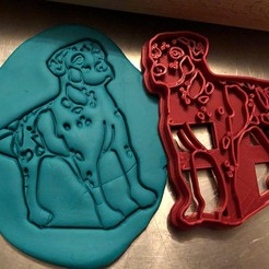 catahoula 5.jpg Télécharger fichier STL Coupe-biscuit - Catahoula Chien léopard III • Plan à imprimer en 3D, Tvoritko