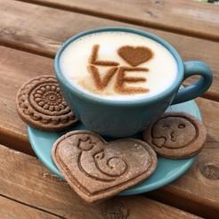 IMG_7864.JPG Télécharger fichier STL Pochoir à café - Love • Modèle pour impression 3D, Tvoritko