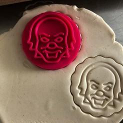 klaun 2.jpg Download STL file Cookie stamp + cutter -  Clown • Design to 3D print, Tvoritko