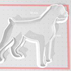 Descargar STL gratis Cortador de galletas para perros Boxer, najdekrova