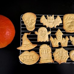 halloweeen (3).jpg Download STL file Halloween cookie cutters set -13 pcs • 3D printing model, Tvoritko