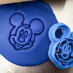 mickey.jpg Download STL file Cookie cutter - Mickey mouse • 3D printer model, Tvoritko