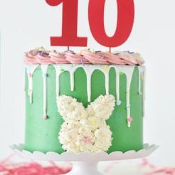 Download 3D model CAKE TOPPER- NUMBER 0-9, Tvoritko
