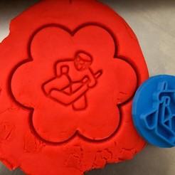 99.jpg Download STL file Cookie stamp + cutter -  Hockey goalkeeper • 3D printing template, Tvoritko