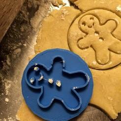 Télécharger modèle 3D Timbre à biscuit + cutter - Pain d'épices, Tvoritko