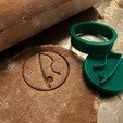 Download 3D model Cookie stamp with cookie cutter - Fishing rot, Sludlak