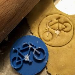 Download 3D printer designs Cookie stamp + cutter -  Bike, Tvoritko