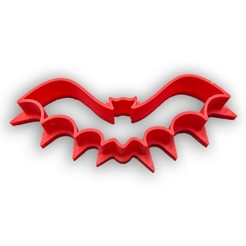 Download STL file Bat cookie cutter • 3D print model, Tvoritko