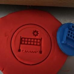 15.jpg Download STL file Cookie stamp + cutter -  Volleyball net III • 3D print template, Tvoritko