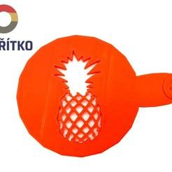 ananas.jpg Télécharger fichier STL Pochoir à café - Ananas • Objet pour impression 3D, Tvoritko
