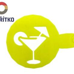 drink.jpg Download STL file Coffee stencil - Drink • 3D printable model, Tvoritko
