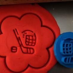 55.jpg Download STL file Cookie stamp + cutter -  Hockey equipment  • 3D printable template, Tvoritko