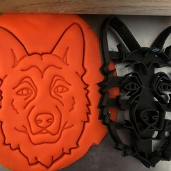 vlčák 11.jpg Télécharger fichier STL Coupeuse de biscuits - Berger allemand V • Modèle pour impression 3D, Tvoritko