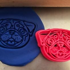 mopsík.jpg Download STL file Cookie cutter - Pug • 3D printer design, Tvoritko