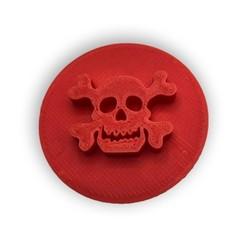 Bez názvu-1.jpg Download STL file Cookie stamp with cookie cutter- Skull and crossbones • 3D print model, Tvoritko
