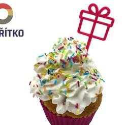 Impresiones 3D Cupcake Topper - Regalo, Tvoritko