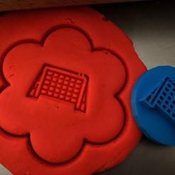 88.jpg Télécharger fichier STL Timbre à biscuit + cutter - But de hockey • Objet à imprimer en 3D, Tvoritko