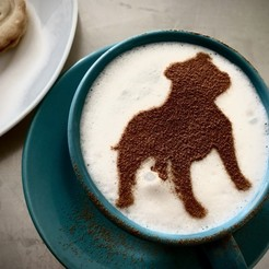 Download 3D print files Coffee stencil -  Staffbull, Tvoritko