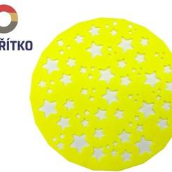 Download 3D printing templates Cake stencil- Stars, Tvoritko
