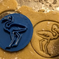 Razítko s vykrajovátkem PLAMEŇÁK.jpg Download STL file Cookie stamp + cutter -  Flamingo • 3D printing design, Tvoritko