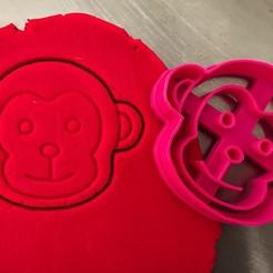 opice.jpg Download STL file Cookie cutter - Monkey • 3D printable template, Tvoritko