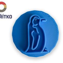 Télécharger fichier imprimante 3D Timbre à biscuit + cutter - Pingouin, Tvoritko