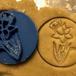 Download STL Cookie stamp + cutter -  Flower, Tvoritko