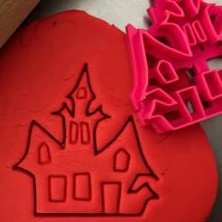 straš.zámek.jpg Télécharger fichier STL Découpeur de biscuits - Château hanté • Design pour imprimante 3D, Tvoritko