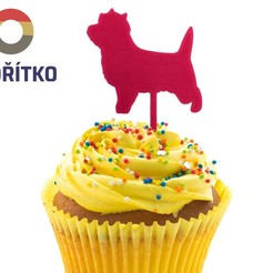 zápich muffin 2.jpg Download STL file Cupcake Topper - Cairn Terrier dog 2 • 3D printer model, Tvoritko