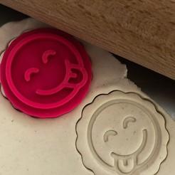 emoji jazyk.jpg Télécharger fichier STL Tampon à biscuit + cutter - Emoji avec langue • Modèle à imprimer en 3D, Tvoritko