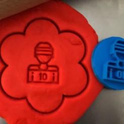 66.jpg Download STL file Cookie stamp + cutter -  Hockey player II • 3D printable design, Tvoritko