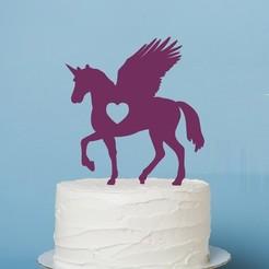 zápich jednorožec.jpg Download STL file Cake Topper- Unicorn II • 3D printing design, Tvoritko
