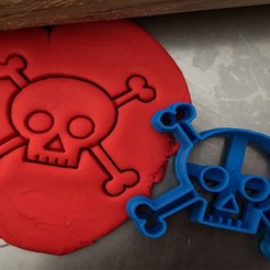 kostlivcec.jpg Download STL file Cookie cutter - Skull • Design to 3D print, Tvoritko
