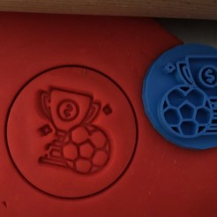 12.jpg Download STL file Cookie stamp + cutter -  Football Trophy • 3D printer template, Tvoritko