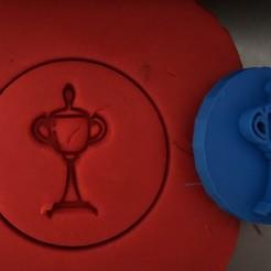 14.jpg Download STL file Cookie stamp + cutter -  Trophy • 3D print model, Tvoritko