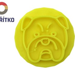 buldog 7.jpg Download STL file Cookie stamp + cutter - English bulldog 2 • 3D print object, Tvoritko