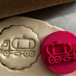 Télécharger fichier impression 3D Timbre à biscuit + cutter - Camion, Tvoritko