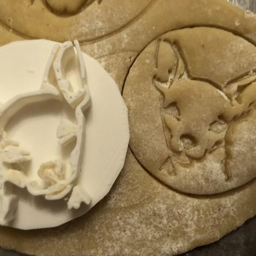 Download 3D printing designs Cookie stamp with cookie cutter - Chivava dog , Sludlak